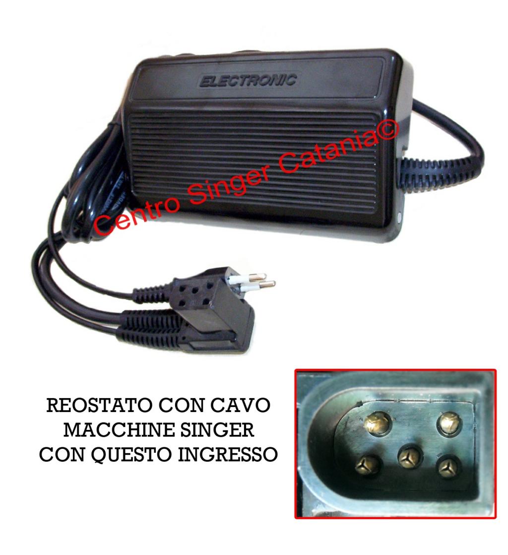 Reostato pedale singer re si 04 5 fori originale for Pedale elettrico per macchina da cucire