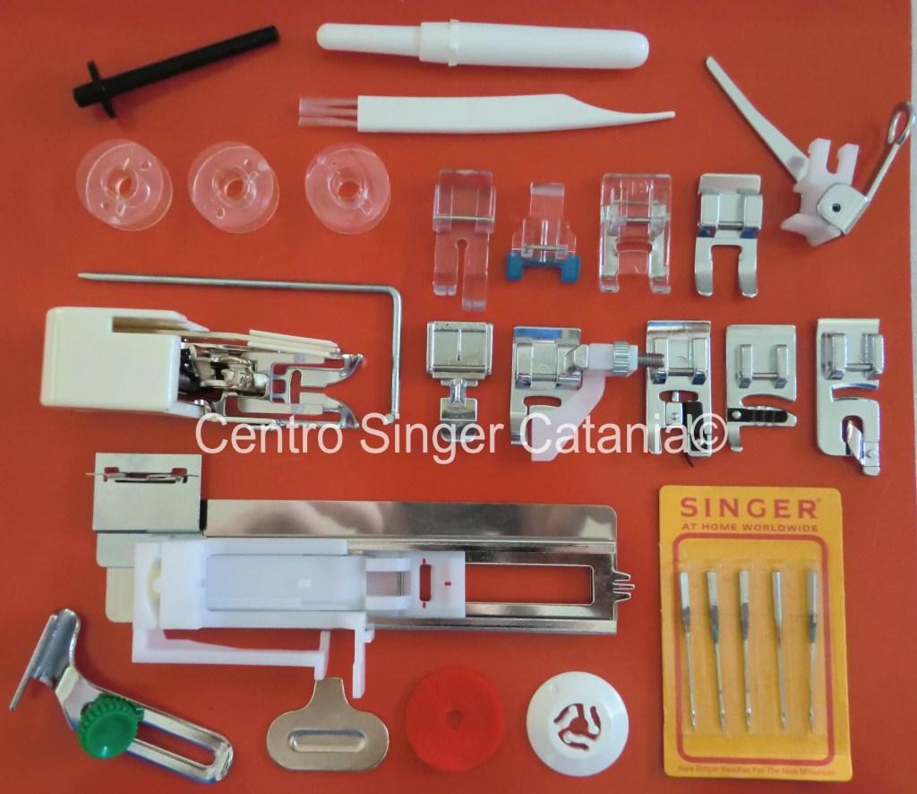 Set piedini aghi accessori singer for Piedini singer prezzi