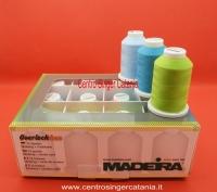 Box 12 filati per tagliacuci Overlockbox Madeira